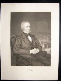 Henry Clay 1873 Antique Portrait Print